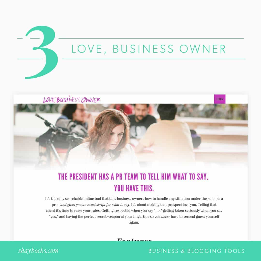 Love, Business Owner