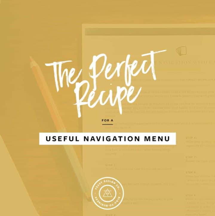 The Perfect Recipe for a Useful Navigation Menu