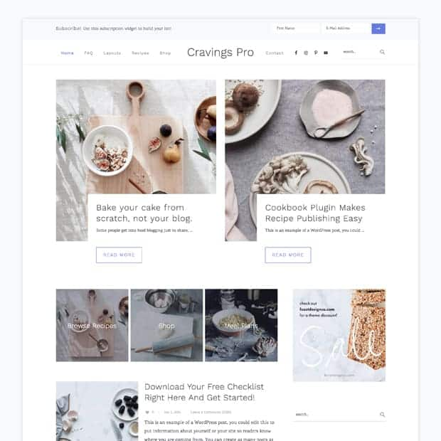 Cravings WordPress Theme for Food Bloggers