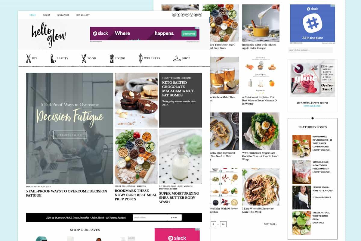 Hello Glow Top Food Blog