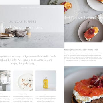 Sunday Suppers Top Food Blog