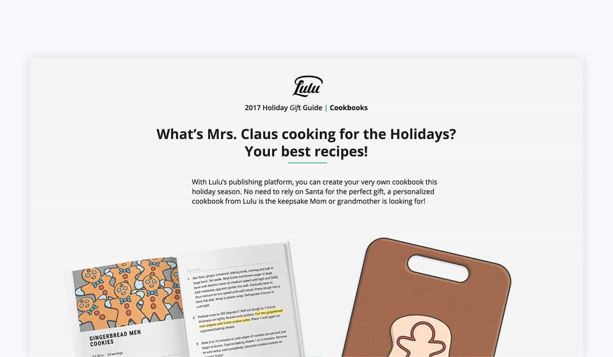 food blog cookbook