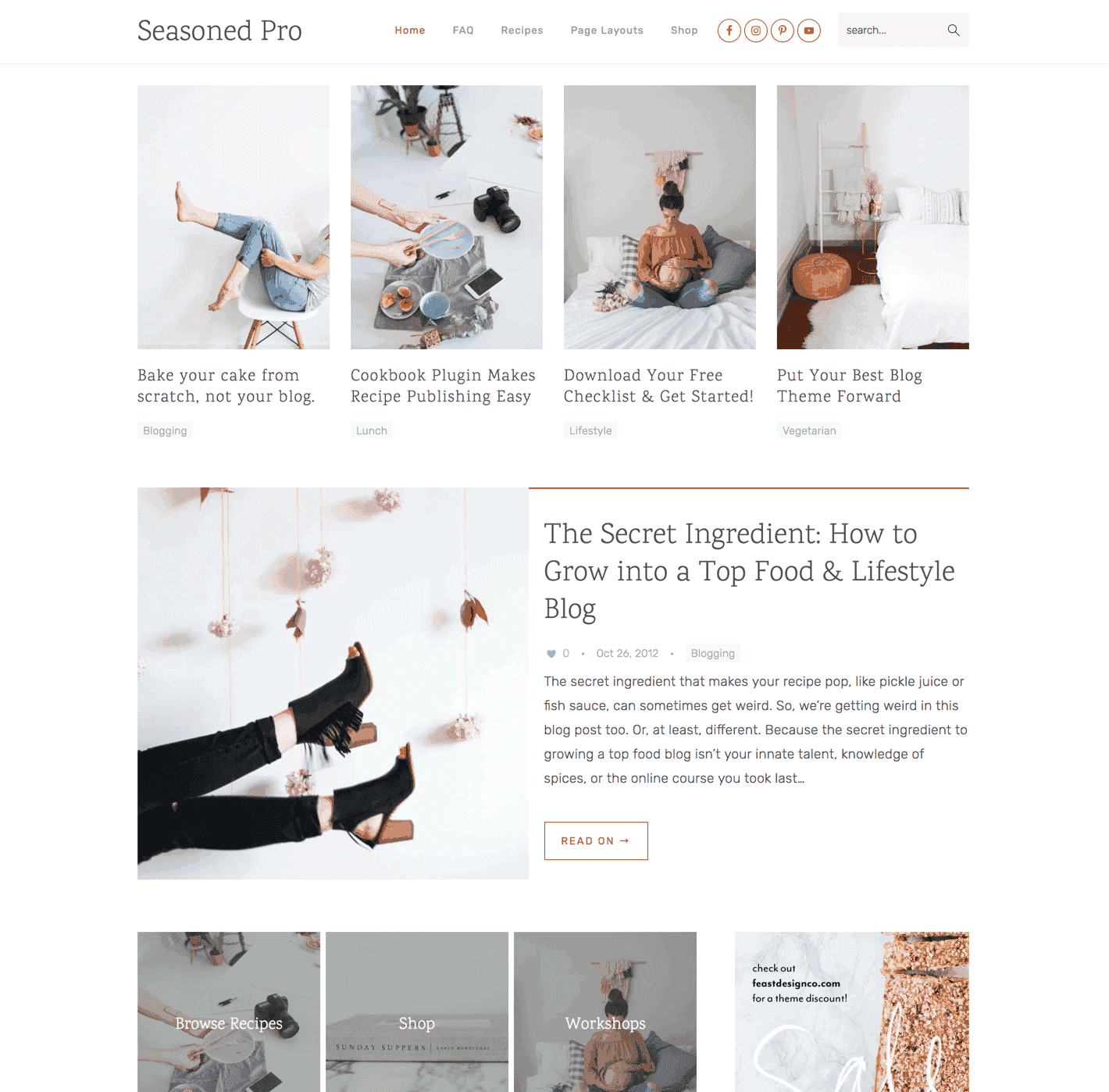 Feast Design Co  - WordPress Themes for Food & Lifestyle