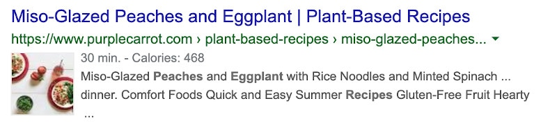 mis-glazed peaches and eggplant recipe