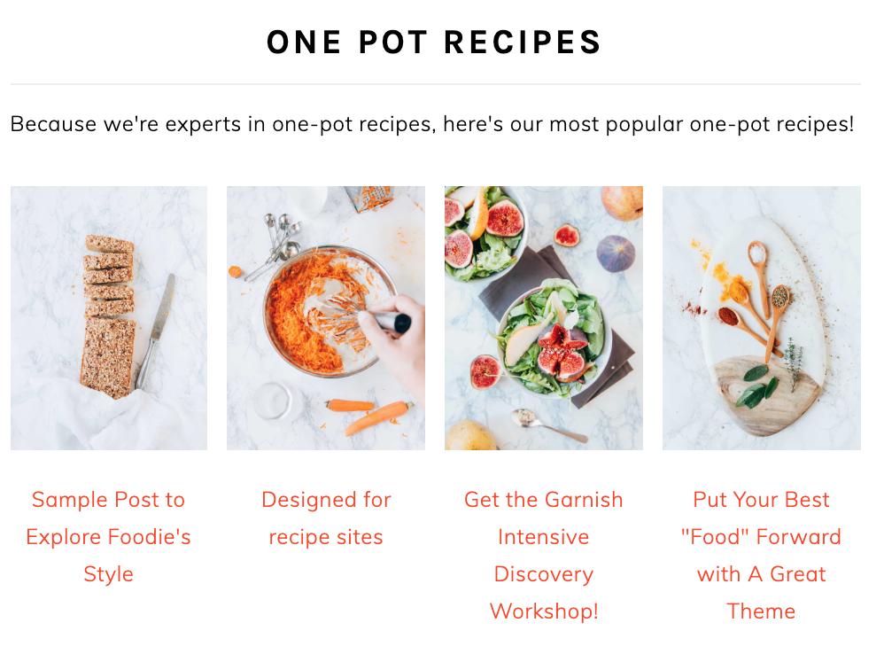 foodie pro homepage