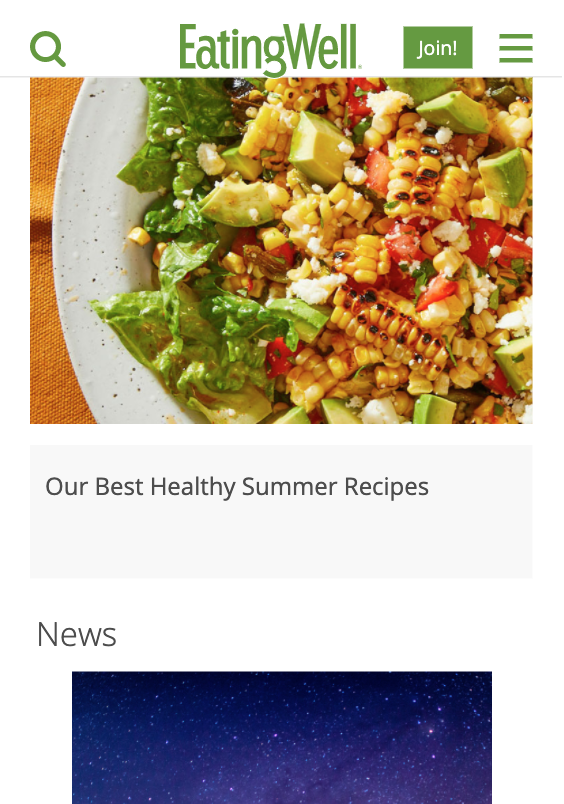 join button as seen on eatingwell website