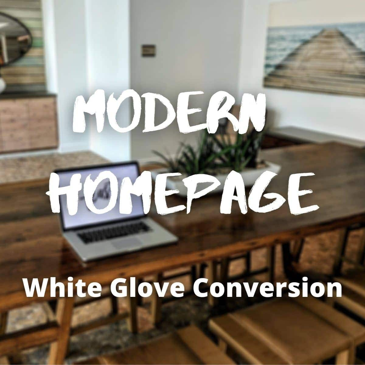 modern homepage white glove service