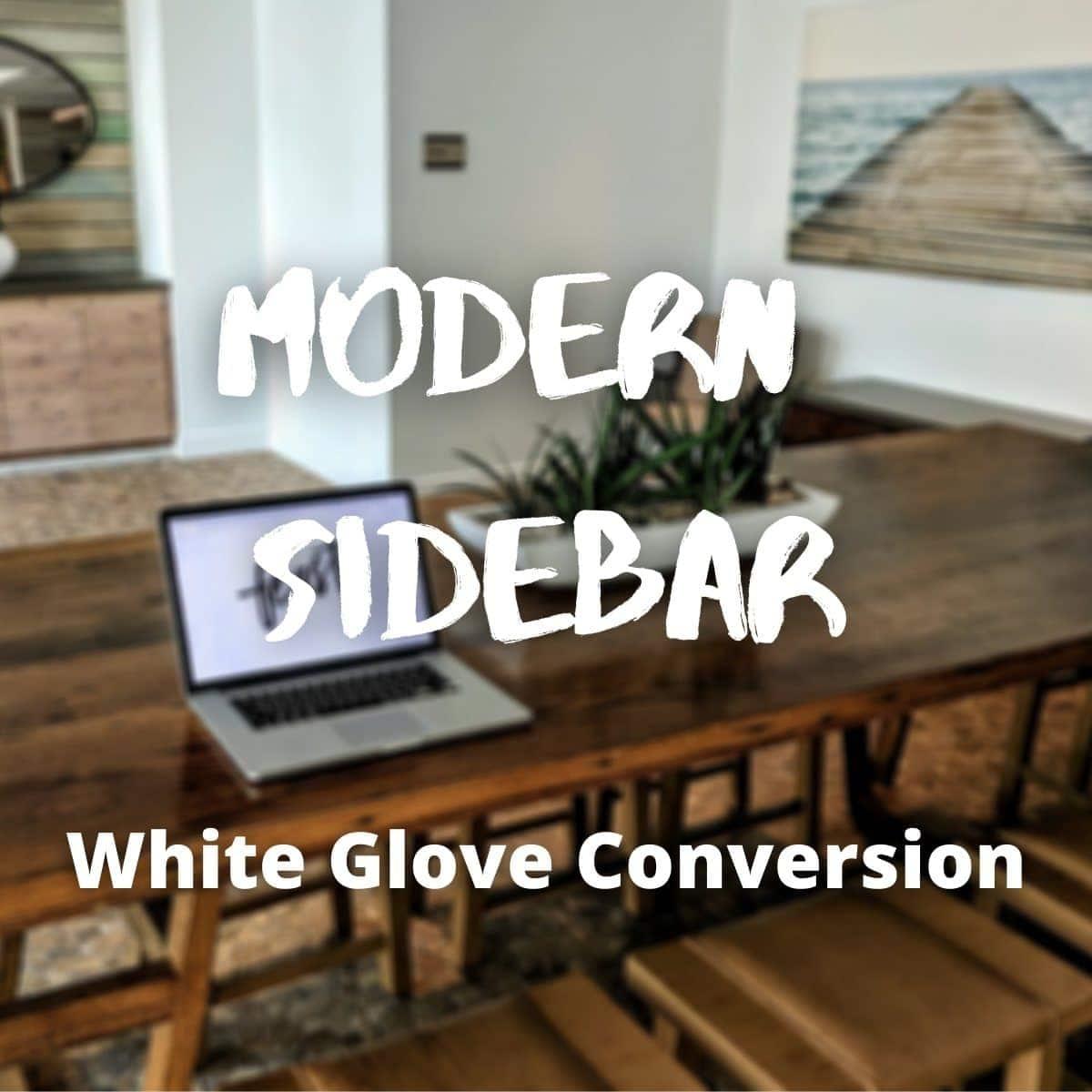 modern sidebar white glove service